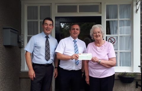 Donation from Richardson & Starling, Kirkcaldy giving donation to the Arden House Project